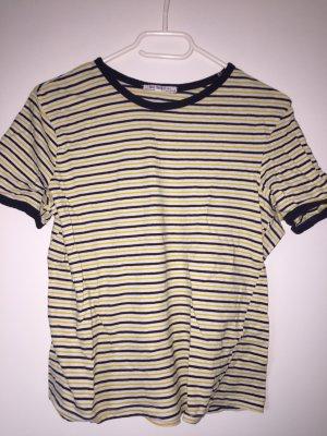 T-Shirt blau gelb von Zara