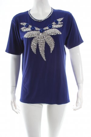 T-Shirt blau Glanz-Optik
