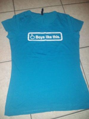 T-shirt Blau  Größe M