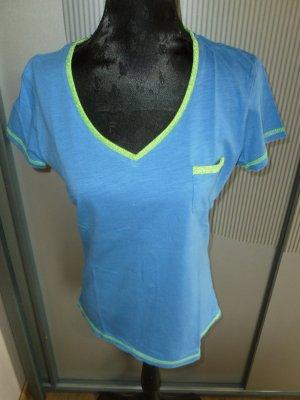T-Shirt blau grün Gina