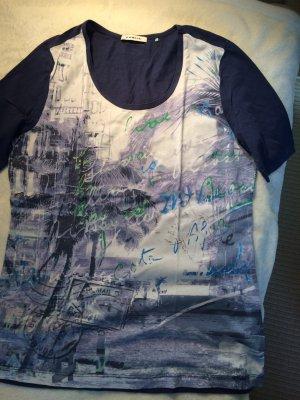 T-Shirt blau von PUBLIC