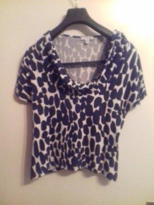 T-Shirt blau- weiss gemustert, Grösse  42