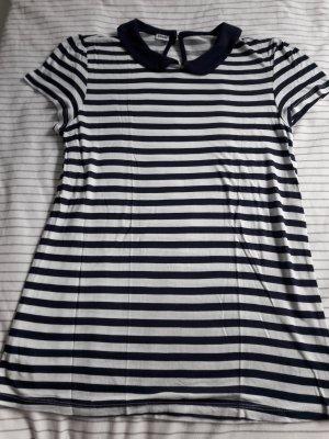 T-Shirt blau/weiss Gr.36 ♡Bübchenkragen♡