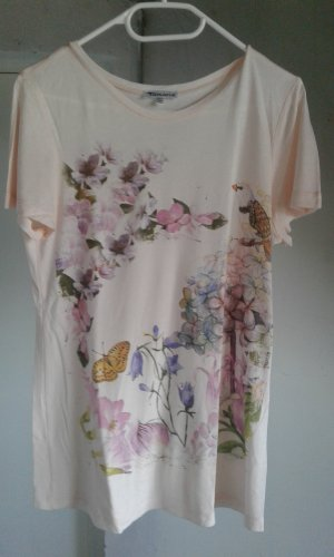 T-Shirt Blumen Tamaris Gr. 34 neu Apricot