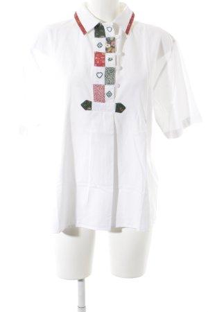 T-Shirt Blumenmuster schlichter Stil