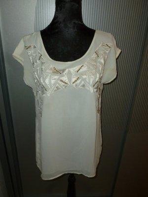 T-Shirt Bluse weiß Promod