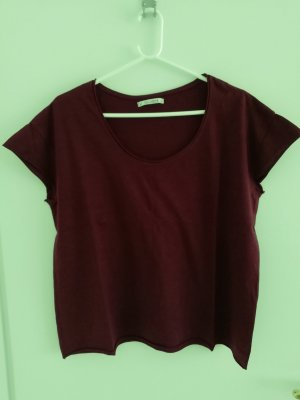 T-Shirt bordeauxrot von Pull & Bear