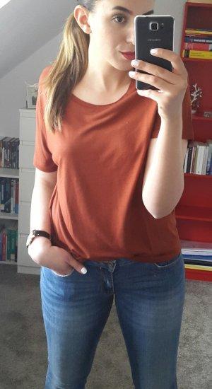 T-Shirt Braun Rot Mango Basic