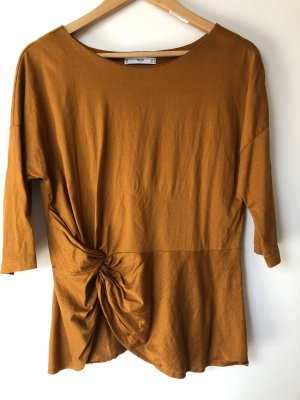 Mango T-shirt cognac