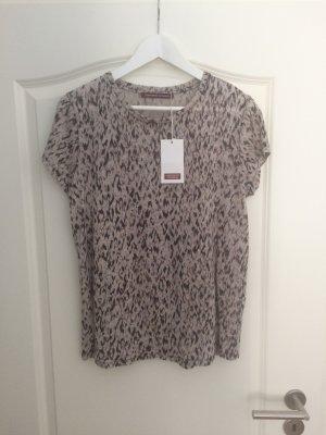 T-Shirt Comptoir des Cotonniers Damen M 100% Leinen silver grey beige