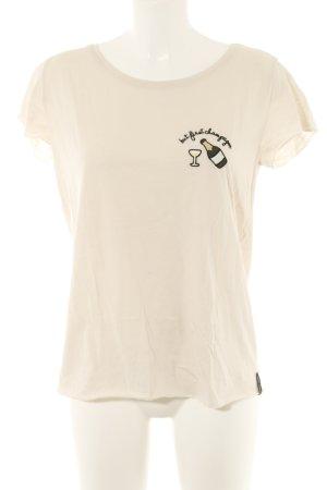 T-shirt crema stile casual