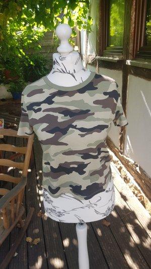 H&M Cropped shirt veelkleurig Katoen