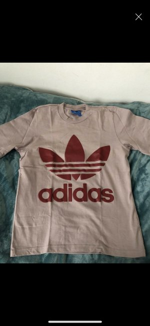 Adidas Top extra-large beige-rouge carmin