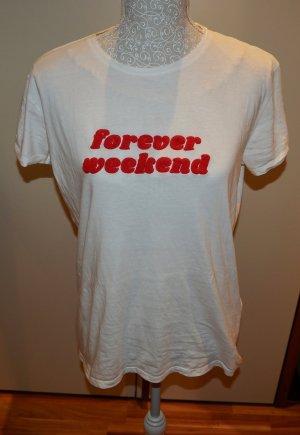 Print Shirt white-red