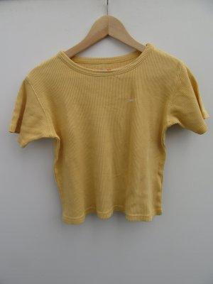 Vintage Camisa recortada amarillo