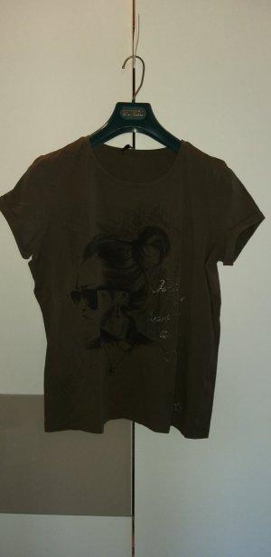 Oui T-shirt verde scuro Cotone