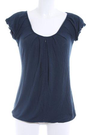 T-Shirt dunkelblau Casual-Look