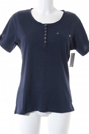 T-Shirt dunkelblau klassischer Stil