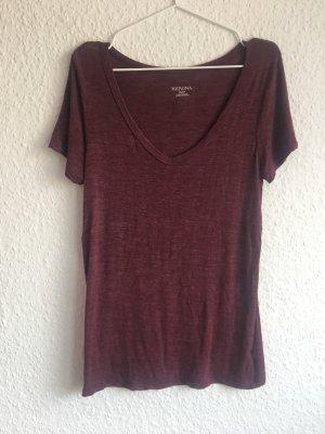 MERONA Lang shirt karmijn-bordeaux