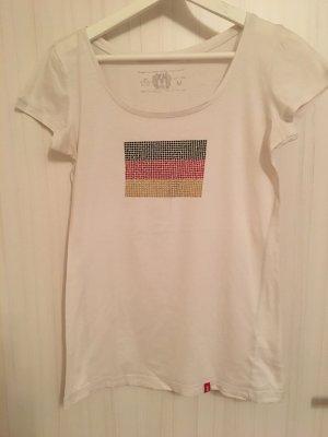 T-Shirt EDC Schwarz-Rot-Gold