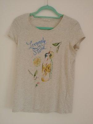 T-Shirt Esprit grau-meliert mit Print Gr. S-M