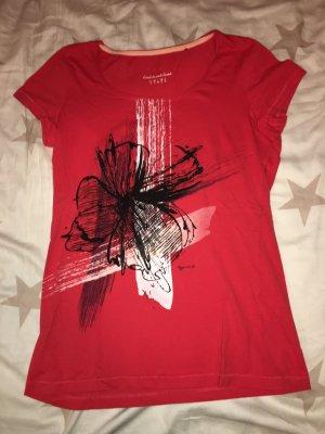 T-Shirt Esprit rot, schwarz in Größe S