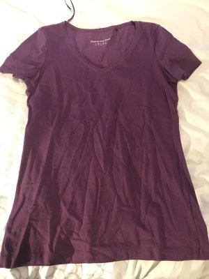 Edc Esprit V-hals shirt paars
