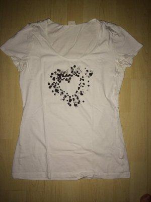 T-Shirt Esprit weiß, schwarz in Größe L