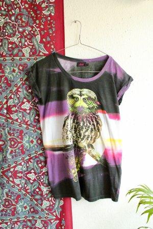 T-Shirt / Eule / Neon / Hipster / Vintage / Universe / Retro