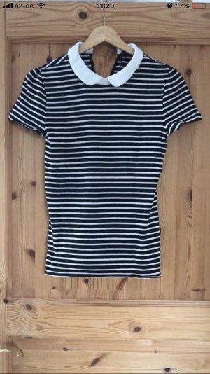 Hallhuber T-shirt blanc-noir