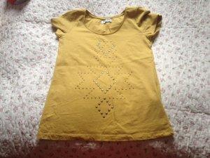 T-Shirt, Farbe: ocker, Größe: M, Vero Moda