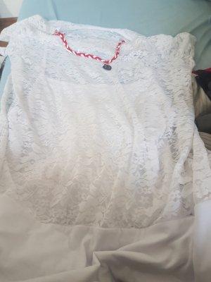 T Shirt Farbe weiß mit roter Kette große XL