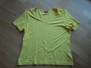 T-Shirt gelb basic Rundhals
