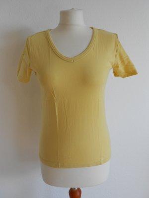 T-Shirt Gelb gr S mit V-Ausschnitt