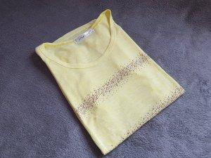 T-Shirt gelb Rosegold Nieten Gr. 38