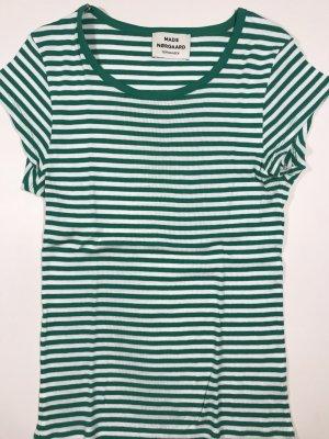 T-Shirt - gestreift - grün / weiß