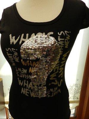 T-Shirt Giorgia black - Metalicprint - Gr.S(36) - ungetragen