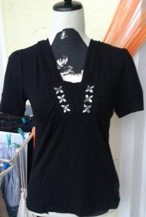 Chemise côtelée noir