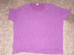 Camiseta violeta amarronado Poliéster