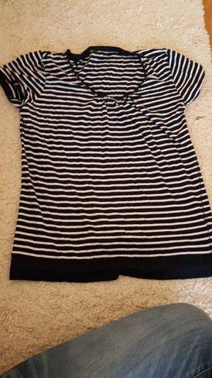 T-Shirt Gr. L. Dunkelblau/weiß gestreift