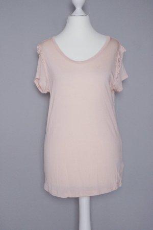 T-Shirt Gr. S mit Rüschen rosé/beige/nude