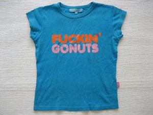 t-shirt gr. xs 34 tuerkis bunt mit aplikation