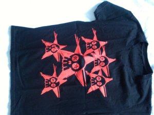 Camicia nero-rosso mattone Cotone