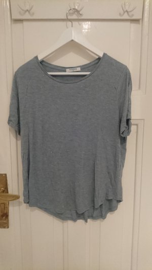 T-Shirt grau-blau mit silber Glitzer