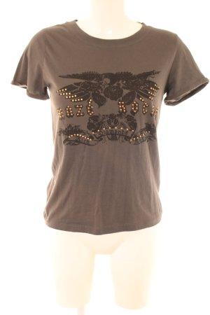 T-Shirt grau Casual-Look
