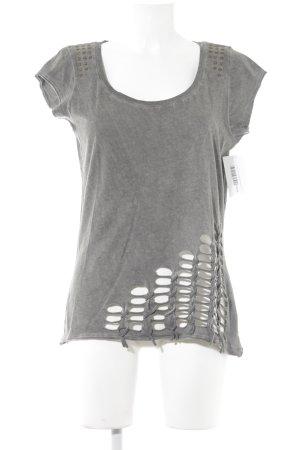 T-Shirt grau-dunkelgrau Casual-Look