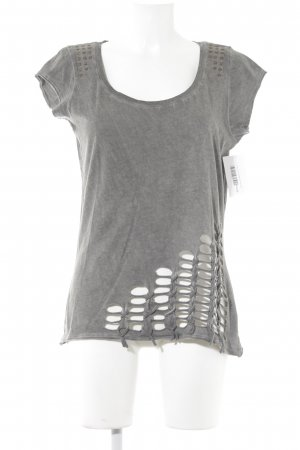 T-Shirt grau-dunkelgrau Casual-Look