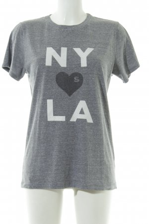 T-Shirt grau meliert Casual-Look