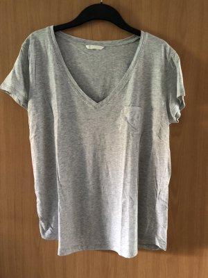 T-shirt grau meliert von H&M Größe M Basic