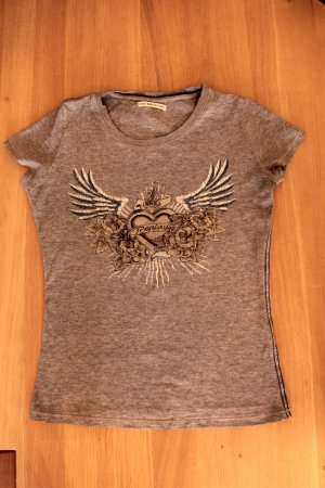 Replay Camiseta color plata Algodón